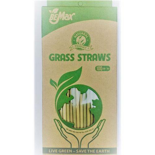 Ống hút cỏ bằng BeMax hộp 100 ống 20cm - 8938503101530