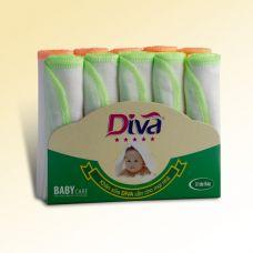 Khăn sữa, khăn gạc cho bé thương hiệu Diva chất liệu vải Nhật 3 lớp 25X25-KS25D