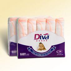 Khăn sữa, khăn gạc cho bé thương hiệu Diva vải thường 3 lớp 25X25cm-KS25