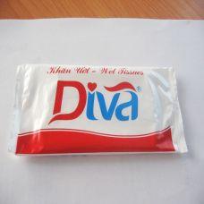 Khăn ướt đơn thương hiệu Diva-KUBI