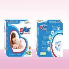 Tã quần thương hiệu Bemax có kết cấu sợi bông thông thoáng bảo vệ da bé được mịn màng size XL18-BEMAXXL18