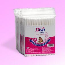 Tăm bông vệ sinh tai dành cho bé thương hiệu Diva lốc 10 que nhựa-ZDVNL10B