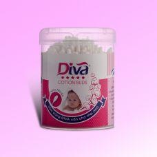Tăm bông vệ sinh tai dành cho bé thương hiệu Diva 200 que giấy-DVG200B