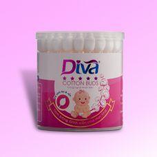 Tăm bông vệ sinh tai và rốn dành cho bé yêu thương hiệu Diva 55 que giấy-DVG55 (Lốc 6 hộp)
