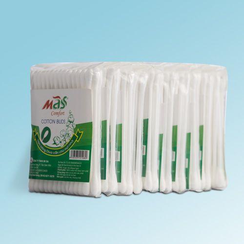 Tăm bông vệ sinh tai thương hiệu Mass-Comfort lốc 10 que nhựa-ZMASNL10